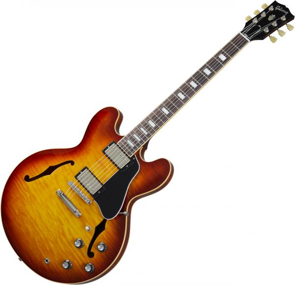 Guitare électrique 1/2 caisse Gibson ES-335 Figured 2020 - iced tea