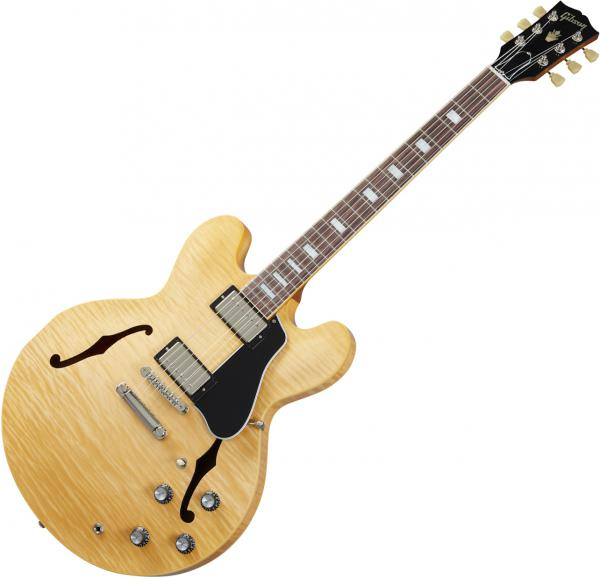 Guitare électrique 1/2 caisse Gibson ES-335 Figured 2020 - antique natural