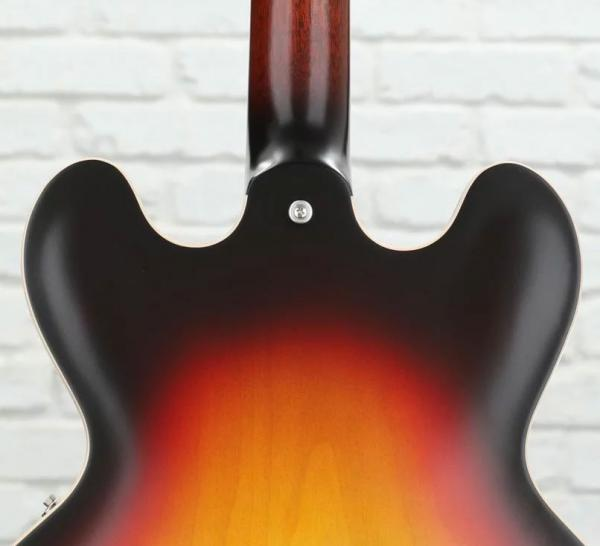 Guitare électrique 1/2 caisse Gibson ES-335 Satin 2019 - sunset sunburst