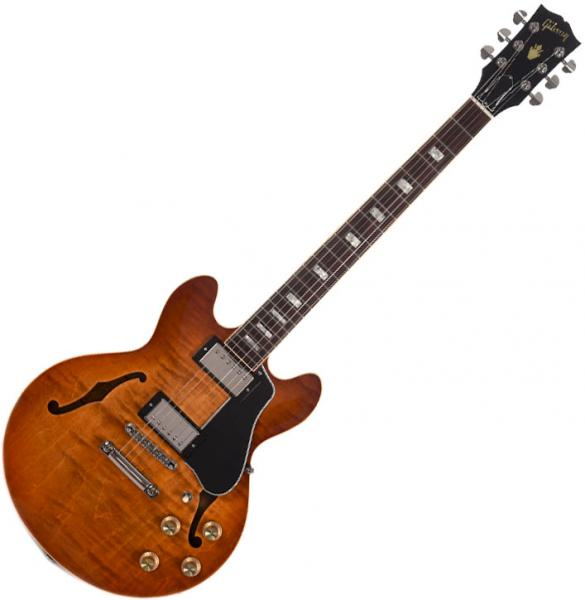 Guitare électrique hollow body Gibson ES-339 Figured 2019 - faded lightburst