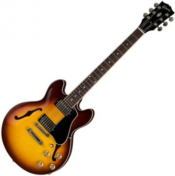 Guitare électrique hollow body Gibson ES-339 2019 - light caramel burst