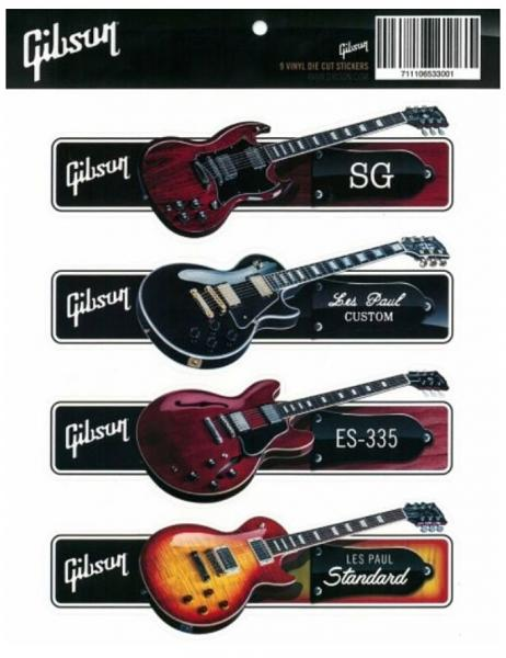 Autocollant & stickers Gibson Guitar Sticker Pack