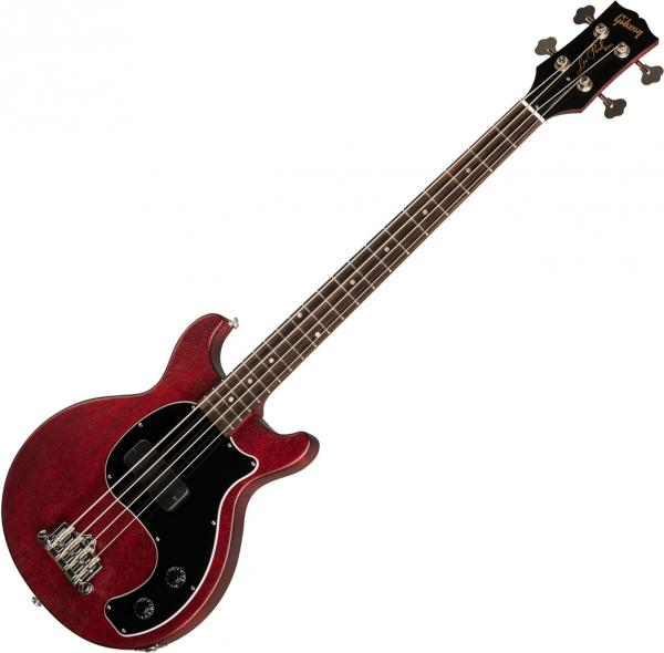 Basse électrique solid body Gibson Les Paul Junior Tribute DC Bass - Worn cherry