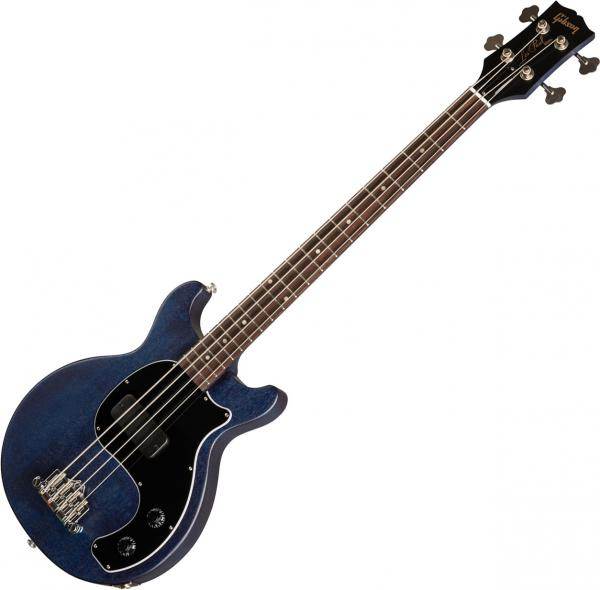 Basse électrique solid body Gibson Les Paul Junior Tribute DC Bass - Blue stain
