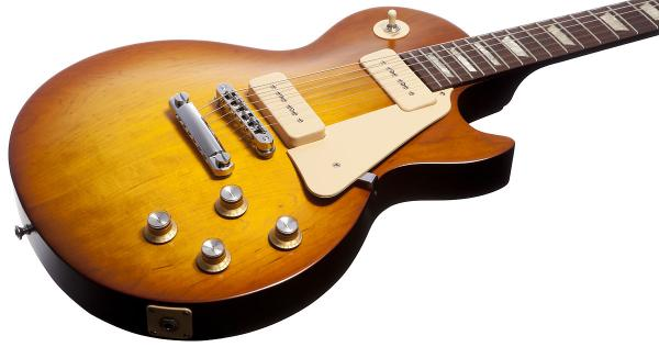 image Les Paul Studio '60s Tribute Dark Back P-90 2011 Nashville USA - Satin Honeyburst - satin honeyburst