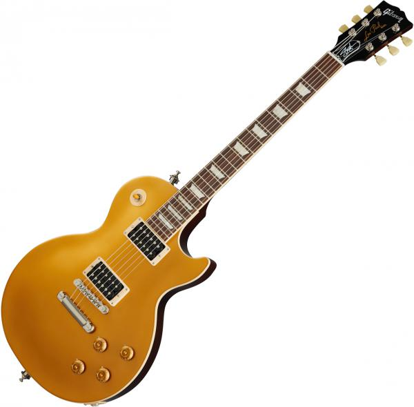 Guitare électrique solid body Gibson Slash Victoria Les Paul Standard Goldtop - Gold