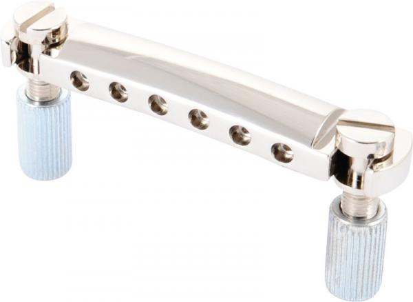 Cordier Gibson Stop Bar Tailpiece - Nickel