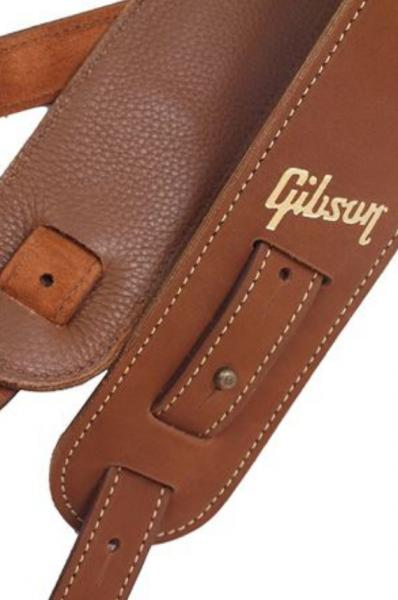Courroie sangle Gibson The Nubuck Guitar Strap - Brown