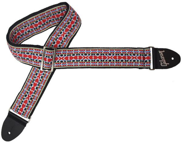 Courroie sangle Gibson The Retro Red Guitar Strap