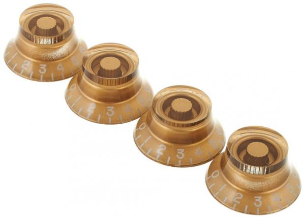 Bouton  Gibson Top Hat Knobs 4-Pack - Vintage Gold