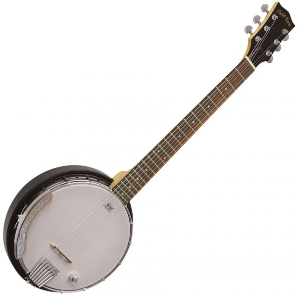 Banjo Gold tone Banjitar AC-6+ +Bag - Black