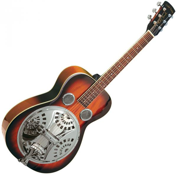 image Paul Beard PBR Roundneck Resonator Guitar +Case - sunburst