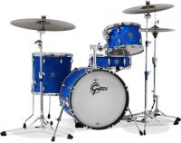 Batterie acoustique jazz Gretsch Gretsch Catalina Club Jazz LTD 2018 - 3 fûts - Blue satin flame