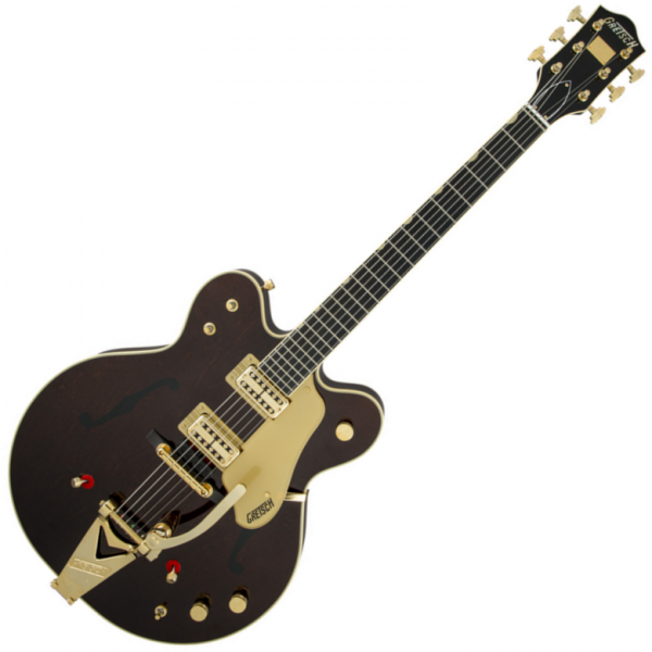 Guitare électrique 1/2 caisse Gretsch G6122T-62 Chet Atkins Country Gentleman (Japon) - Walnut stain