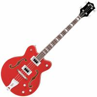 Basse électrique hollow body Gretsch G5442BDC Electromatic - Transparent red