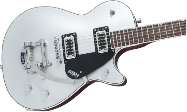 Guitare électrique solid body Gretsch G5230T Electromatic Jet FT Single-Cut with Bigsby - airline silver
