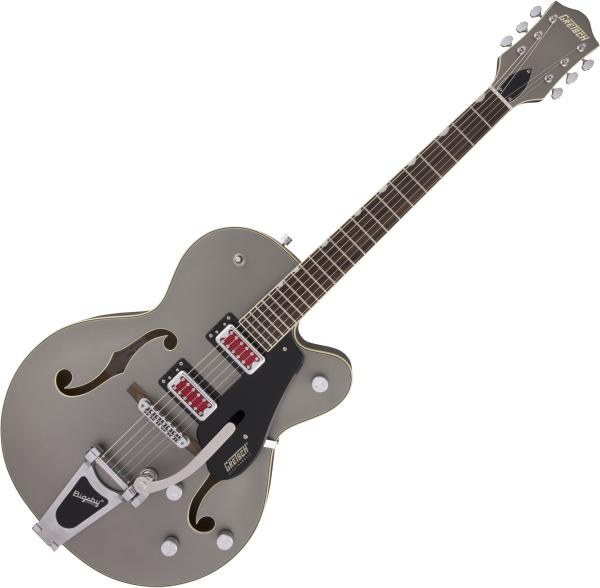 Guitare électrique hollow body Gretsch G5410T Electromatic Rat Rod Hollow Body Bigsby - matte phantom metallic