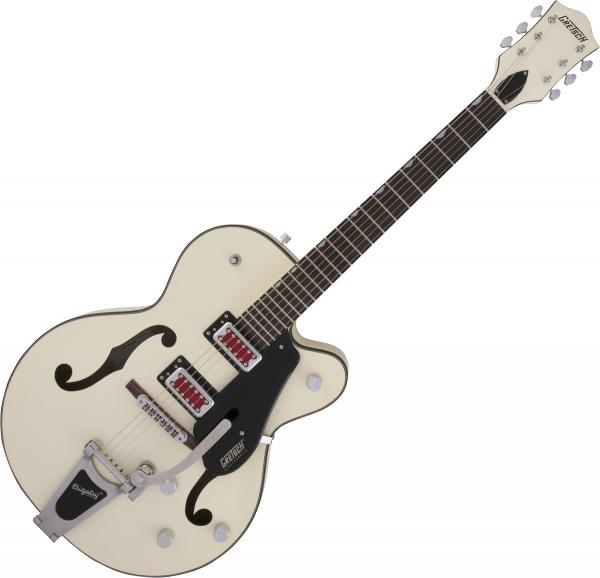 Guitare électrique hollow body Gretsch G5410T Electromatic Rat Rod Hollow Body Bigsby - Matte vintage white