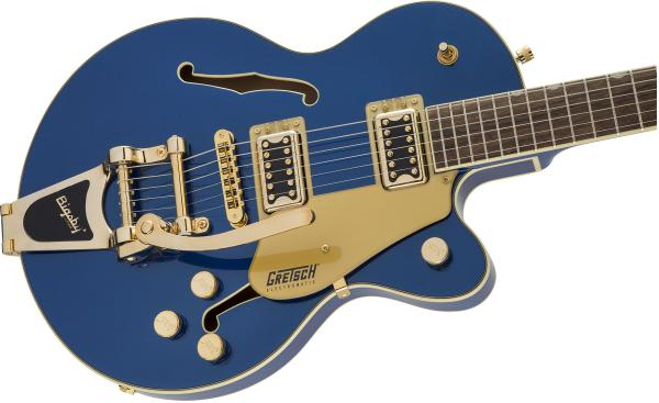 Guitare électrique hollow body Gretsch G5655TG Electromatic Center Block Jr. - azure metallic