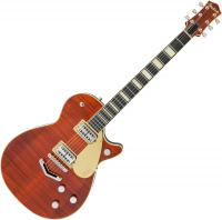 Guitare électrique solid body Gretsch G6228FM Players Edition Jet BT with V-Stoptail Professional Japan - Bourbon stain