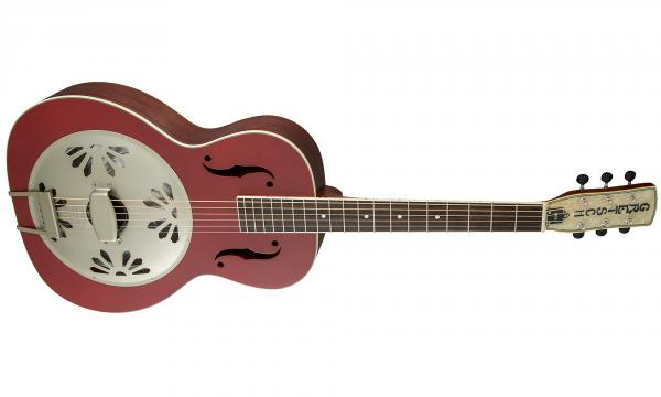 Dobro resonateur Gretsch G9241 Alligator Biscuit Round-neck Resonator Fishman - chieftain red