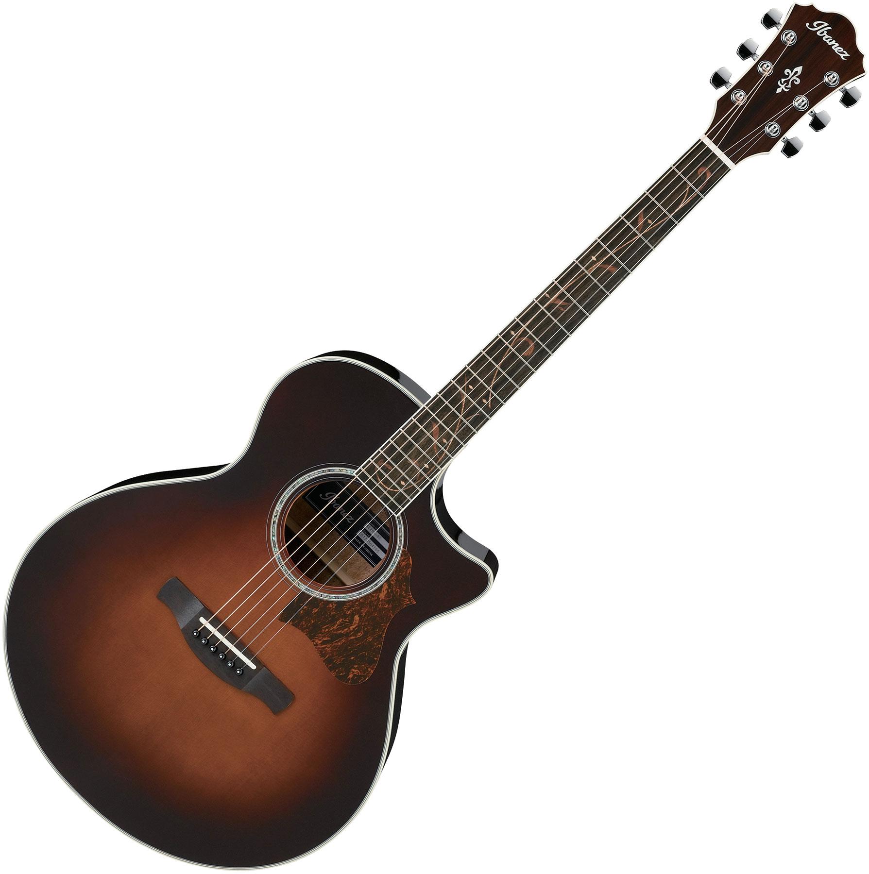 Musical Instruments & Gear Guitare électro-acoustique Ibanez Ae205bs Brown Sunburst Guitars & Basses
