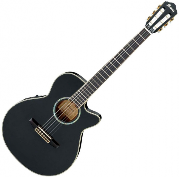 Guitare classique format 4/4 Ibanez AEG10NII BK - Black high gloss