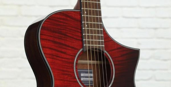 Guitare folk Ibanez AEWC32FM 03 RSF - red sunset fade