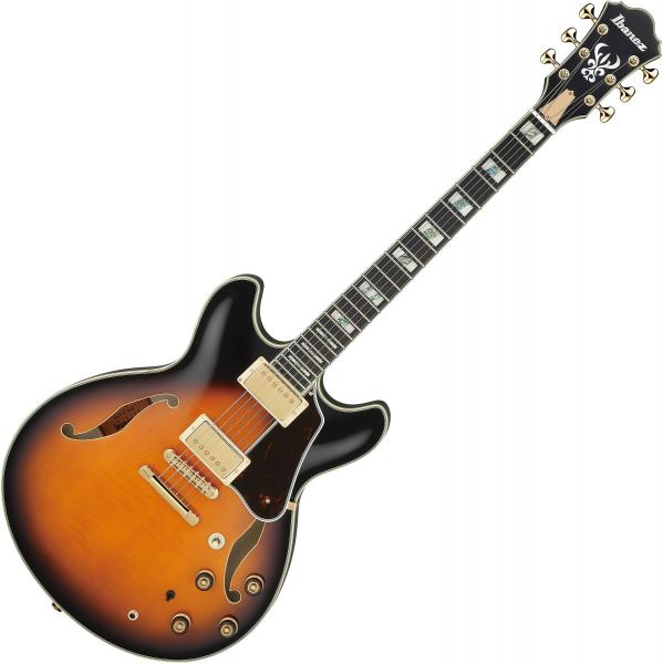 Guitare électrique 3/4 caisse & jazz Ibanez AS2000 BS Artstar Japan - brown sunburst