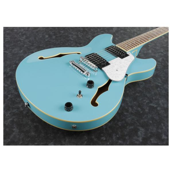 Guitare électrique hollow body Ibanez AS63 MTB Artcore - mint blue