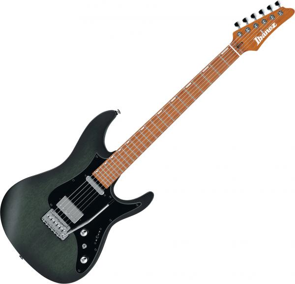 Guitare électrique solid body Ibanez Erick Hansel EH10 TGM Premium +Bag - transparent green matte
