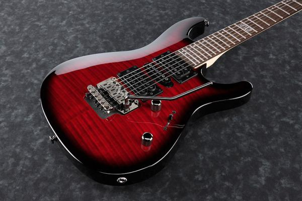 Guitare électrique solid body Ibanez Kiro Loureiro KIKOSP2 TRB - transparent red burst