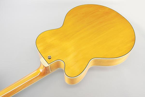 Guitare électrique hollow body Ibanez Pat Metheny PM2 AA - antique amber
