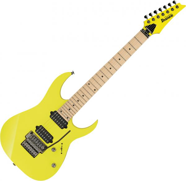 Guitare électrique solid body Ibanez RG752M DY Prestige Japan - desert sun yellow