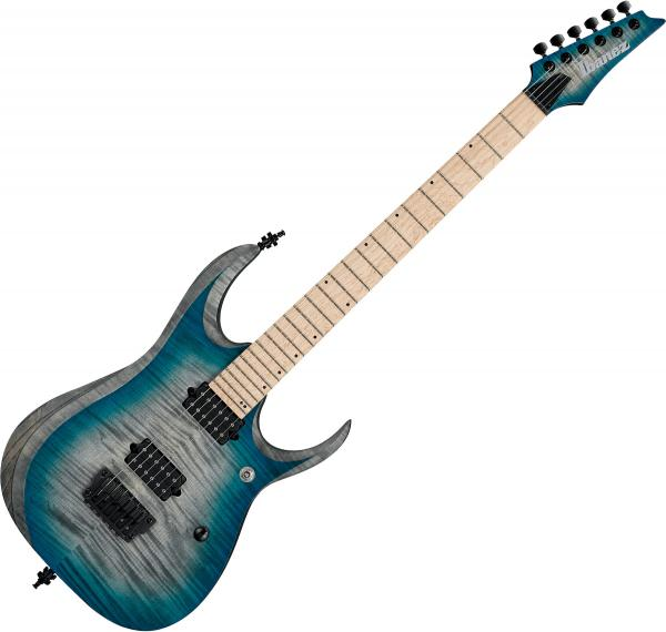 Guitare électrique solid body Ibanez RGD61AL SSB Axion Label - stained sapphire blue burst