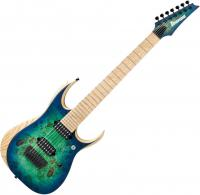 Guitare électrique baryton Ibanez RGDIX7MPB SBB Iron Label - Surreal blue burst