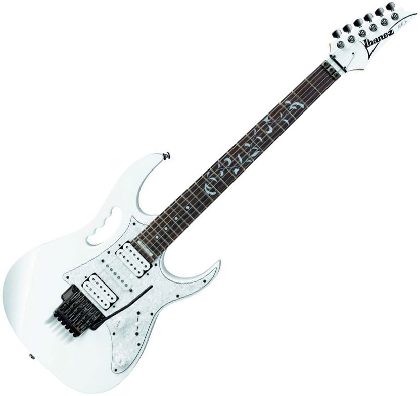 Guitare  U00e9lectrique Solid Body Ibanez Steve Vai Jem555 Wh