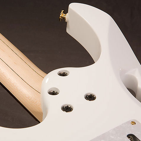 Guitare électrique solid body Ibanez Steve Vai JEM7V WH Prestige Japan - white