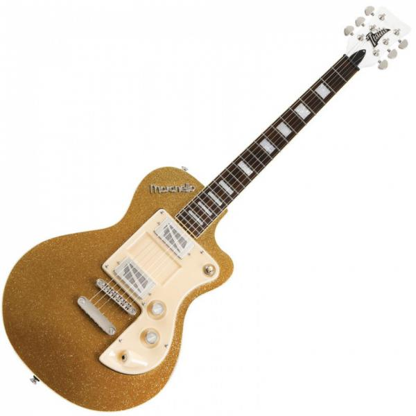 Guitare électrique solid body Italia Maranello Classic MKII - gold sparkle