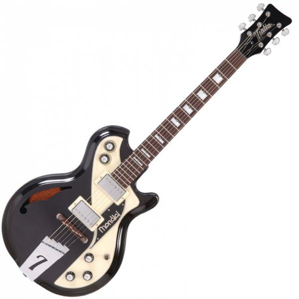 Guitare électrique hollow body Italia Mondial Classic - black