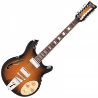 Guitare électrique hollow body Italia Rimini 12 - 2 tone sunburst