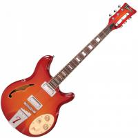 Guitare électrique solid body Italia Rimini 6 - Cherry sunburst