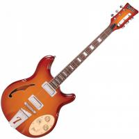 Guitare électrique hollow body Italia Rimini 6 - Honey sunburst