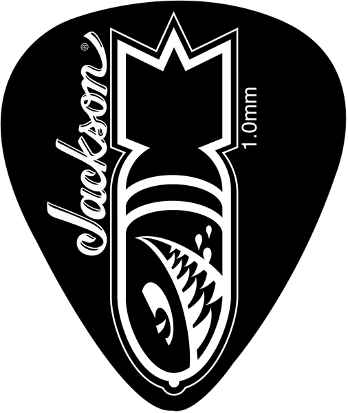 Médiator & onglet Jackson 351 Black Heavy Bomb 1mm Picks