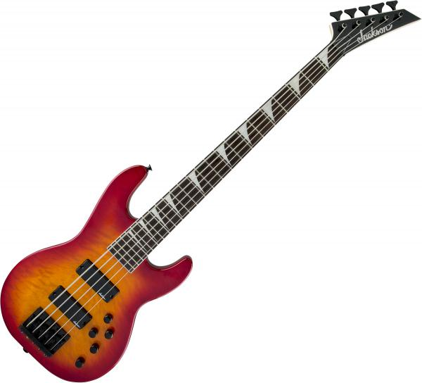 Basse électrique solid body Jackson Concert Bass JS3VQ - Cherry burst