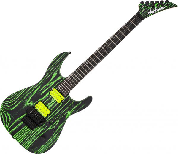 Guitare électrique solid body Jackson Pro Series Dinky DK2 Ash - Green glow