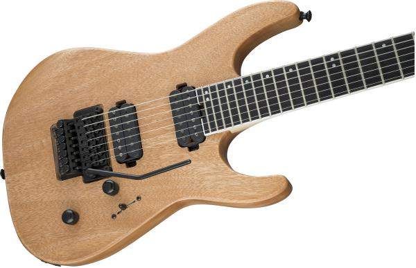 Guitare électrique solid body Jackson Dinky Pro DK7 Okoume - natural satin