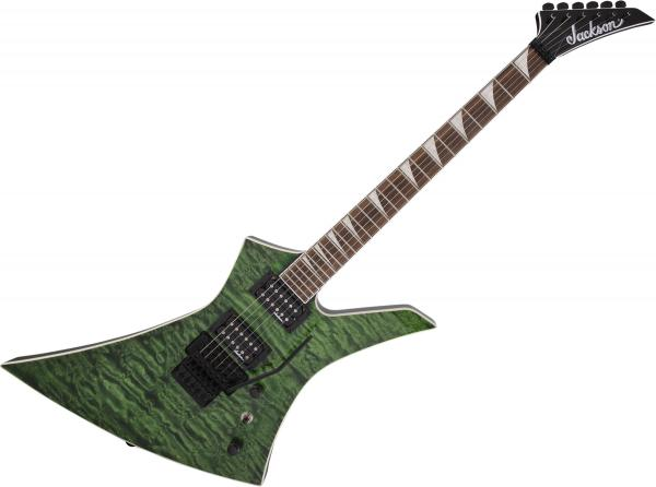 Guitare électrique solid body Jackson Kelly KEXQ - Transparent green