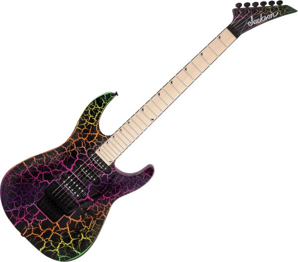 Guitare électrique solid body Jackson Pro Series Soloist SL3M - Rainbow crackle