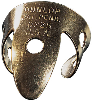 Médiator & onglet Jim dunlop Fingerpick Brass .018IN